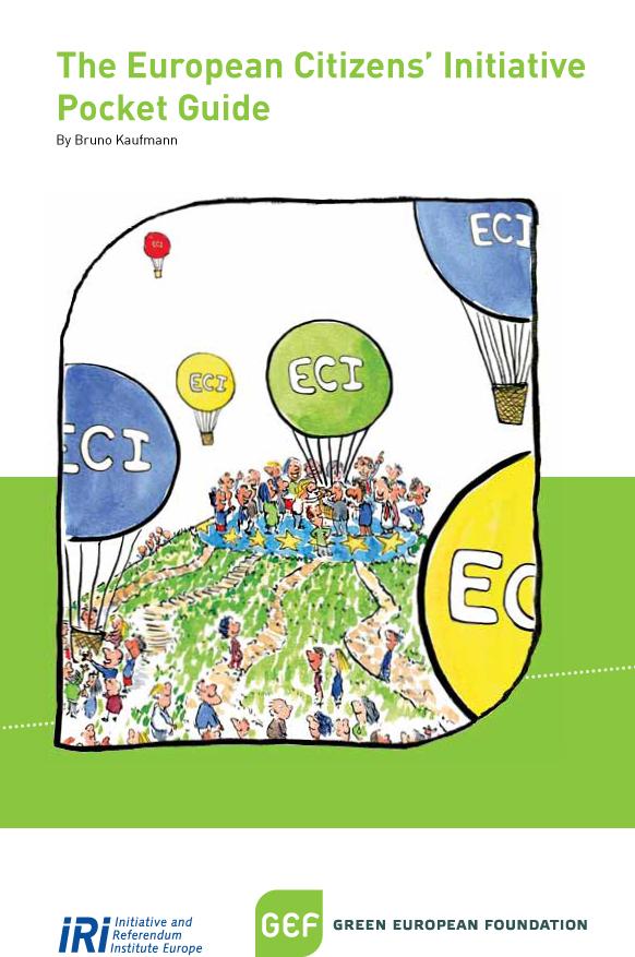 Image of Europena citizens initative pocket guide cover