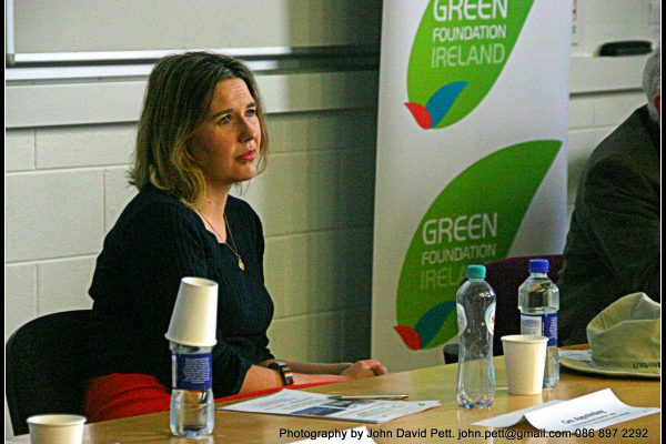 green-foundation-ireland-woman-presenting