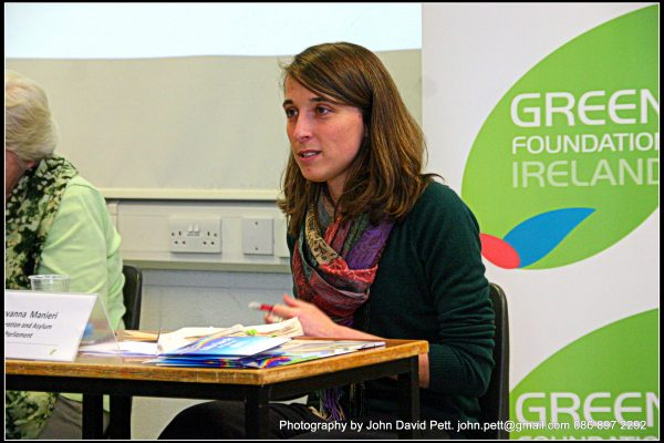 green-foundation-ireland-woman-listening-to-audience