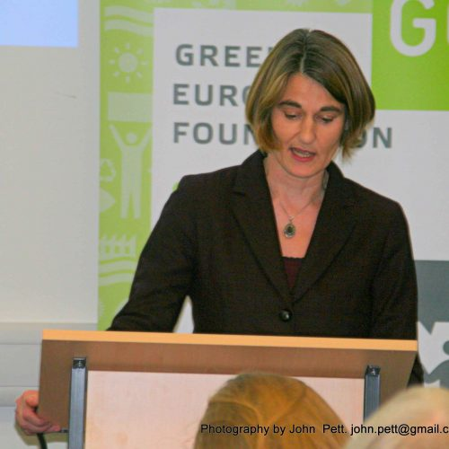 green-foundation-ireland-podium-speaker-close-up