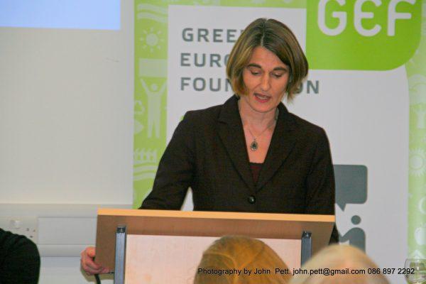 green-foundation-ireland-podium-speaker-close-up
